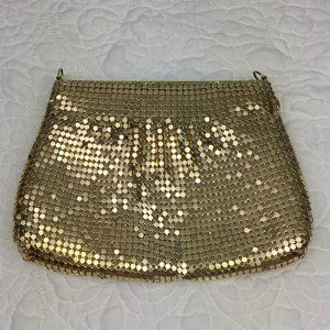 Warren Reed Vintage Mesh Gold Clutch
